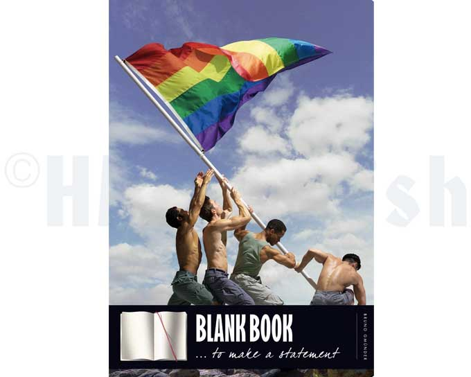 The Mens' Blank Book - Gay Pride Perfectly suitable for quick notes, your personal diary or even your first shirt story. Blank dotted pages, high quality paper and 5 euros only. Carry it with you and write something nice! This blank book is perfect for your agenda, your first novel or your personal diary.