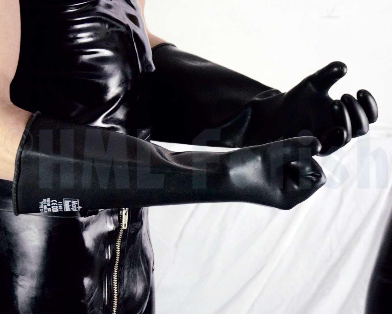 Marigold Industrial Gloves Elbow Length Hml Fetish
