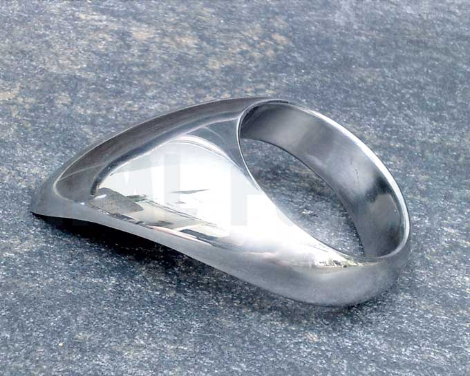 Teardrop-Cockring stainless steel You will love this ring! A high-end ring from solid and polished stainless steel providing uncomparable sensations through its special shape. Worn with tongue backwards, it gently stimulates the perineum – the area between the balls and anus – with every move you make. Worn with tongue frontwards, it creates a ledge of support. So when fucking, you will feel the Teardrop Ring grind your balls into your partner with each stroke. When you turn the tongue upwards and hold your shaft against the tongue, then gently ease the tip into the hole with your cock, you stretch your partner out with the base of each stroke…