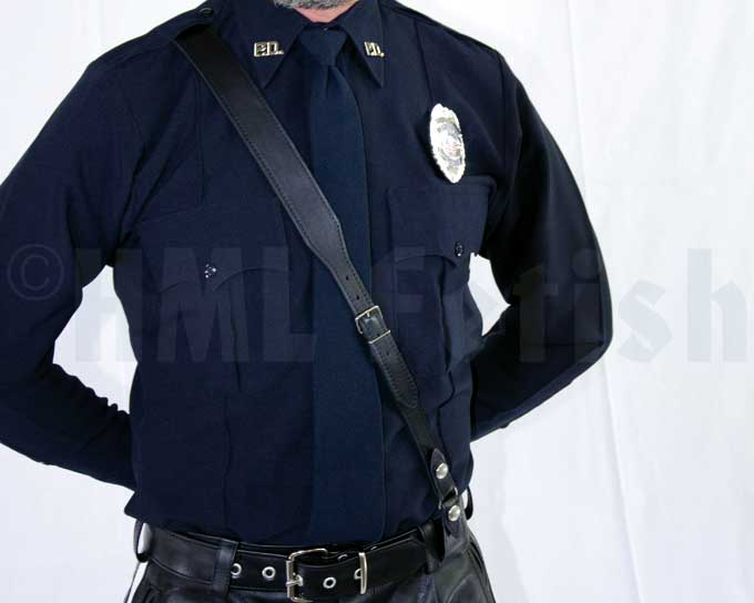 Police Shirt LAPD blue long sleeves This genuine police shirt offers superior quality from America's premiere police shirt makers. The shirt is durably constructed from a fine polyester fabric for drying fast, easy care and soil resisting.